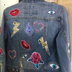 Bagatelle Sz xs Jean jacket with patches